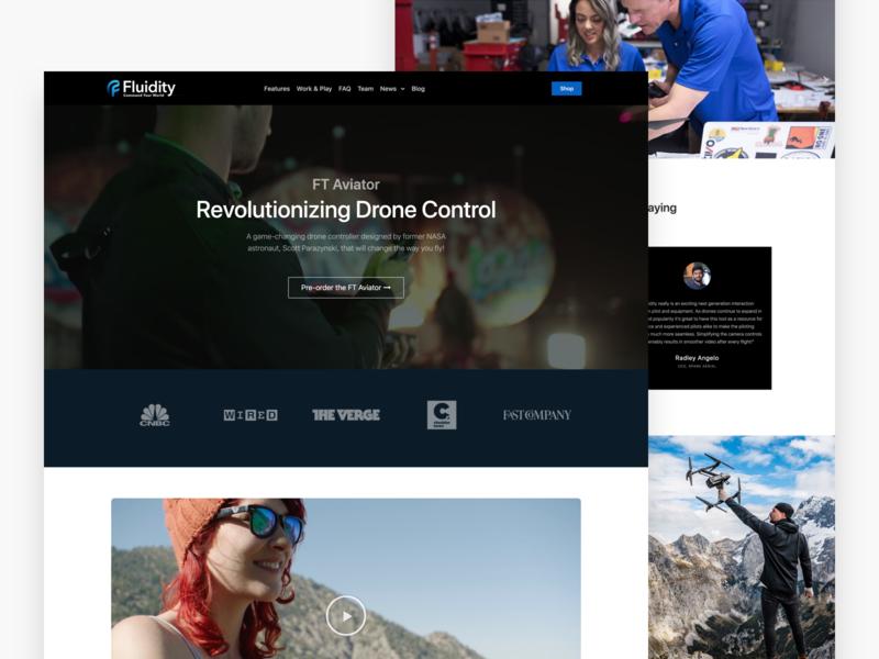 Fluidity Tech Home crowdfund preorder kickstarter website web design