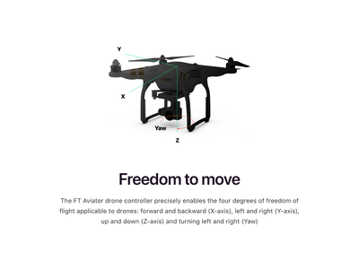 FT Aviator Freed to Move dji drone icon design