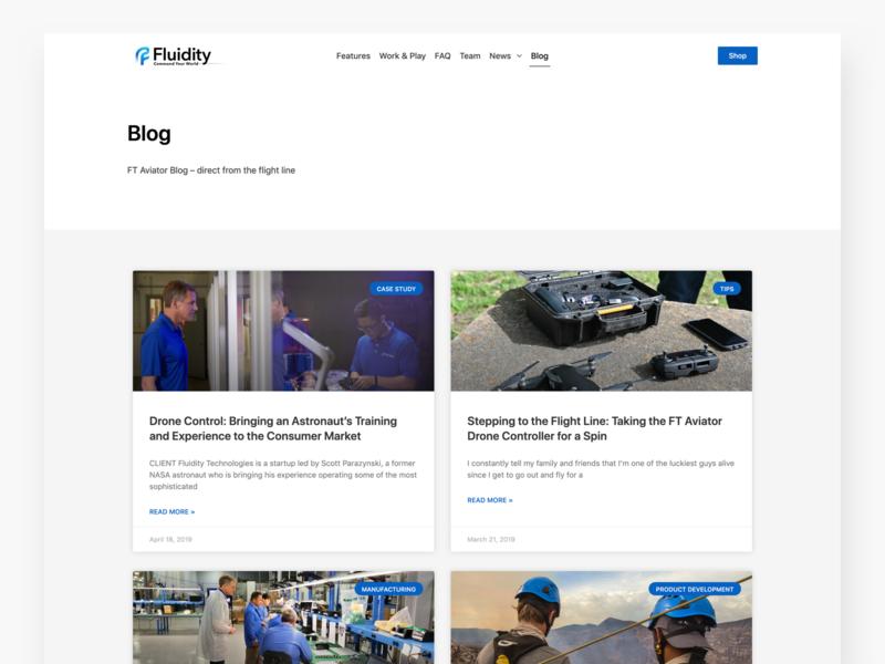 Fluidity Tech Blog articles blog website web design ui