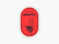 Weekly Warmup: Mandeville, Louisiana illustration branding brand sticker boat louisiana dribbble warmup hometown