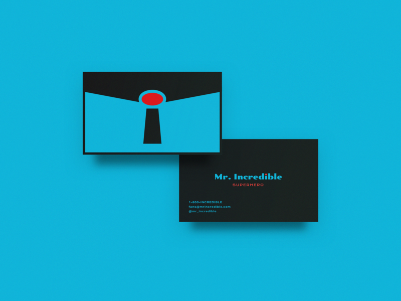 Mr. Incredible's Classic Business Card typography warmup weekly warm-up icon logo brand design business card superhero incredibles