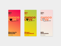 Weekly Warmup: Chocolove Redesign design gradient heart typogaphy chocolate package warmup