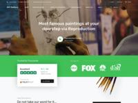 Website design for the Art Gallery