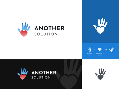 Another Solution logo proposal health assistance helping hand help logo modern clean organization non-profit