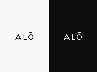 Alo typography design branding logo