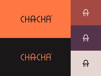 Chacha illustration icon typography minimalist design branding logo