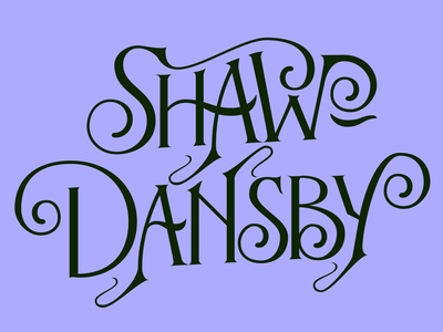 Shaw-Dansby Logo — First Draft wip logo design logotype logo design letters lettering design lettering