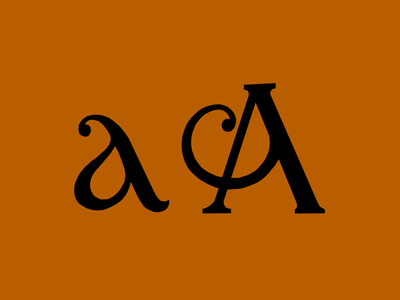 Lettered Upper and Lowercase A's design a lettering design letters lettering