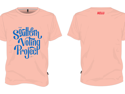 Southern Voting Project Lettered T-Shirt Design national t-shirt design t-shirt lettering design lettering united states usa south southern aclu