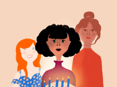 Birthday launch art for Lovely design stationery procreate birthday illustrator illustration