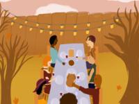 """""""Happy Friendsgiving"""" illustration"""