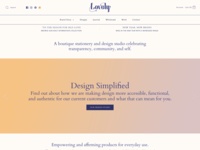 Lovely Website Home Page