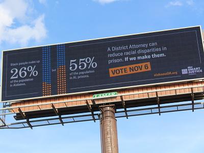 Jefferson County DA Election Campaign aclu of alabama aclu political campaign education public education campaign billboard design billboard design