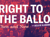"""""""Right to the Ballot"""" Event Graphics"""