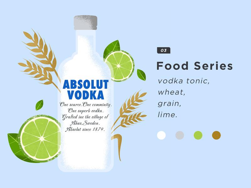 Food Series 03. Vodka illustration. vector design food illustration
