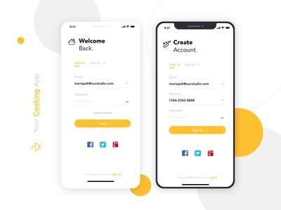 Sign up / Sign in - Daily UI