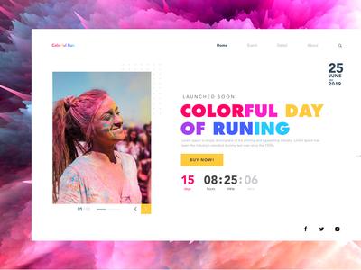Running landingpage - Daily UI 03