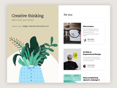 Daily UI Challenge #35 Blog Post creative creativity illustration design web article blogger post blog