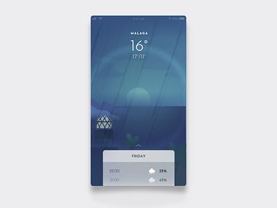 Daily UI Challenge #37 Weather Hint challenge dailyui beach hint illustration rain app weather