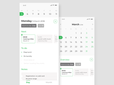 Daily UI Challenge #38 Calendar challenge dailyui notes todo month plan planner schedule day calendar