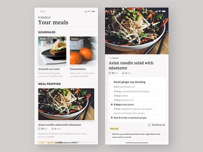 Daily UI Challenge #40 Recipe challenge daiyui diary meal salad vegan cooking recipe