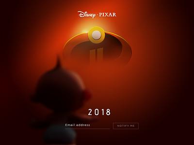 Daily UI Challenge #48 Coming Soon challenge dailyui web comingsoon coming theincredibles incredible movie disney pixar