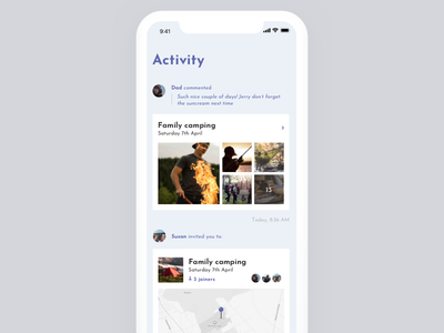 Daily UI Challenge #47 Activity Feed social sharing daily photo images feed activity