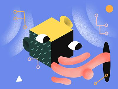 Smart Things ux machinelearning artificial intelligence ai illustration