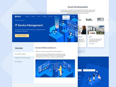 UX/UI design for Frox platform illustration ux research it prototype transformation customer experience saas switzerland digitalization