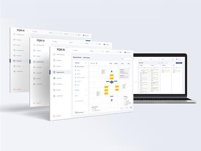 Interface for PQM AI website development dashboard design dashboard customization platform wireframes task list task management task tracker quality control quality assurance