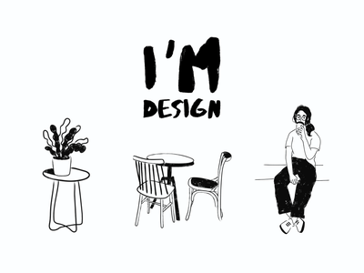 Brand identity for I'm design girl interiordesign interior eating out couch plant coffee chair architecture b2b restaurant branding restaurant