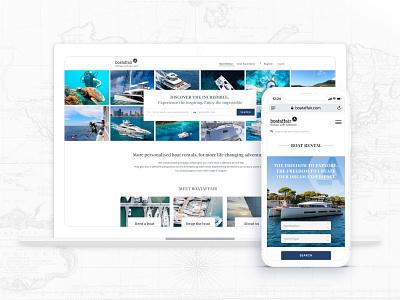 Website redesign for Boataffair switzerland whale scuba diving diving reef ocean sea rentals renting trip planner trips travel luxury brand luxury branding luxury yacht boat