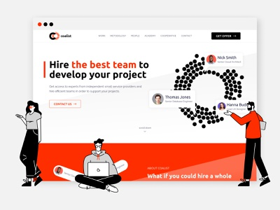 Brand Identity for Coalist alliance project management coalition project project teams recruiting recruitment hiring team