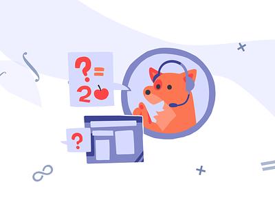 Math Dog. Support mascot question integral education support paint design mathematical mathematica mathart math dog dog art illustration