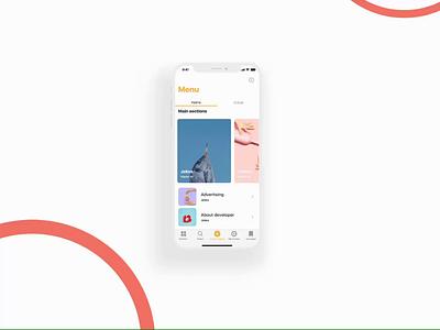 Humor On design home screen homepage design animation motion minimal joke interface ios category menu mobile design mobile app app design app