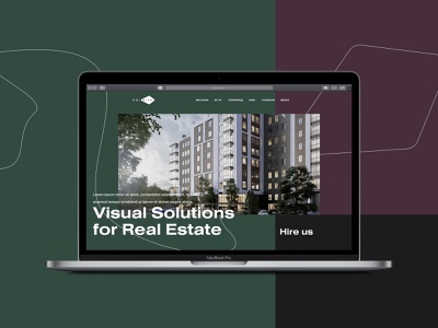CGI-Kite real estate branding animation web building house design architect studio interior city homepage architecture portfolio site