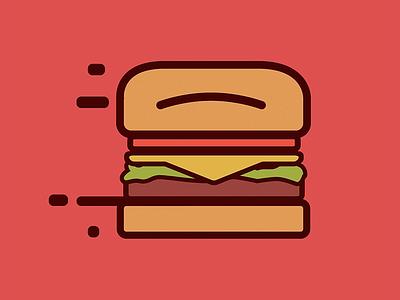 Fast Burger draw fast food bezews fast burger illustration