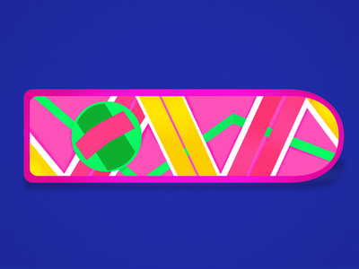 Hoverboard - Back to the future movie bezews colors back to the future hoverboard