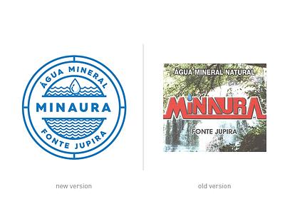 Water Minaura - Comparison draw brazil redesign comparison bezews logo