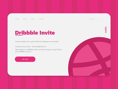 Dribbble Invite dribbble invites invitation shot welcome shot welcome ticket ui web shot invites invite giveaway invite dribbble bezews