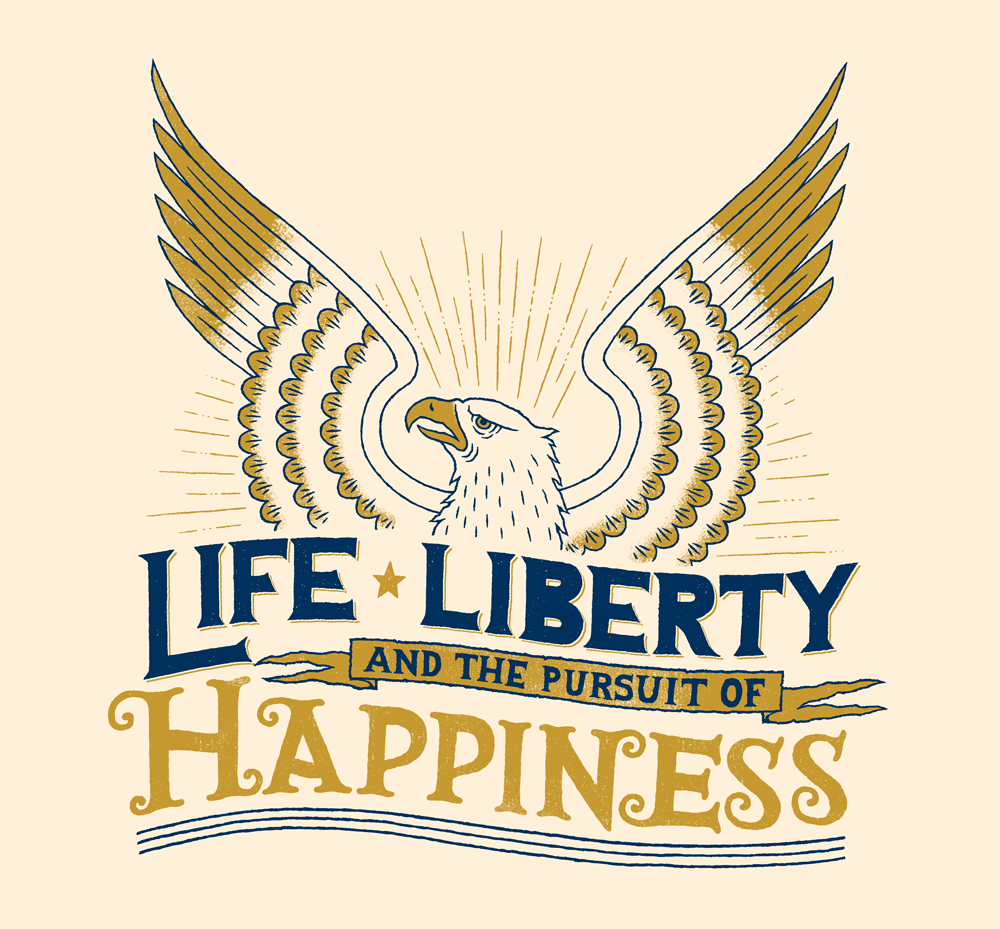 Life Liberty And The Pursuit Of Happiness Quote Dribbble  Isssuerob Zangrillo