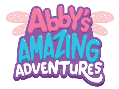 Abby's Amazing Adventures Title Treatment tv shows kids entertainment playful fairy kids logo font type sesame street illustration hand-lettering lettering typography