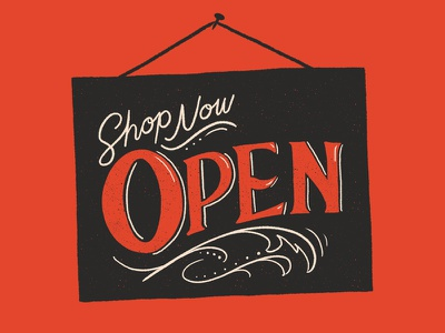 Shop Now Open open sign shop society6 hand lettering lettering