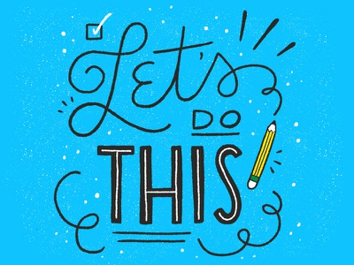 Let's Do This texture lettering hand lettering jon contino