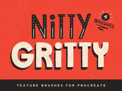 Nitty Gritty Procreate Brushes grain gritty grit texture lettering ipad hand lettering procreate