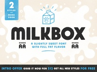 Milkbox Font