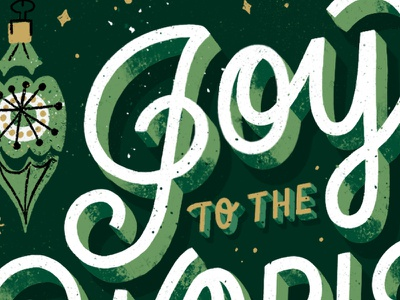 Joy to the World Sneak Peek joy to the world 3d procreate texture sneak peek christmas card christmas mid century handlettering