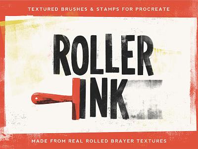 Roller Ink roller ink ink brayer texture creative market ipad procreate