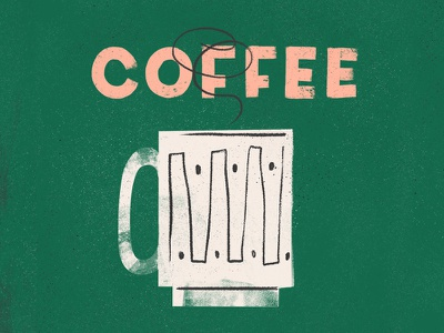 Coffee procreate texture mid century coffee cup coffee