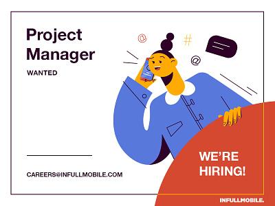 Join us! job offer we are hiring simple design illustration